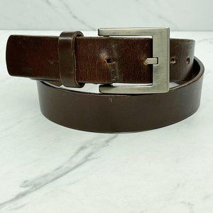 Handcrafted Brown Genuine Thick Leather Belt 34
